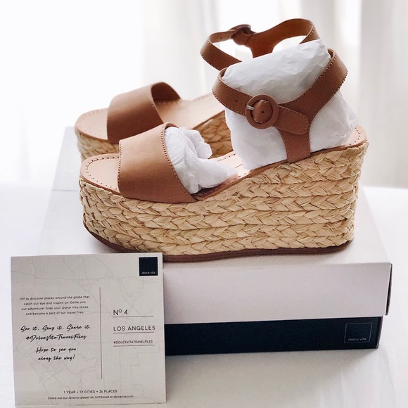 e43a3c6925ff New DOLCE VITA Dane Espadrille Wedge Sandals